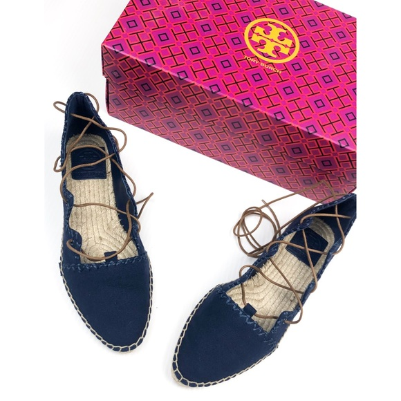cb7af202032b NIB Tory Burch Sonoma Gillie Lace Up Espadrille